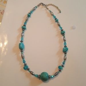 Adjustable Silver Turquoise Necklace